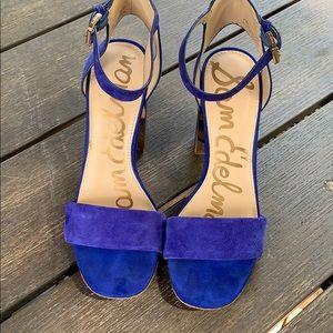 Electric Blue chunky heels